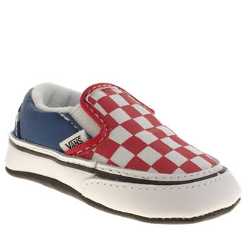Vans White & Red Classic Stars And Stripes Slip Unisex Crib