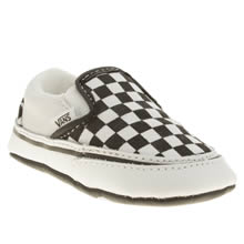 Crib Black & White Vans Classic Slip-on
