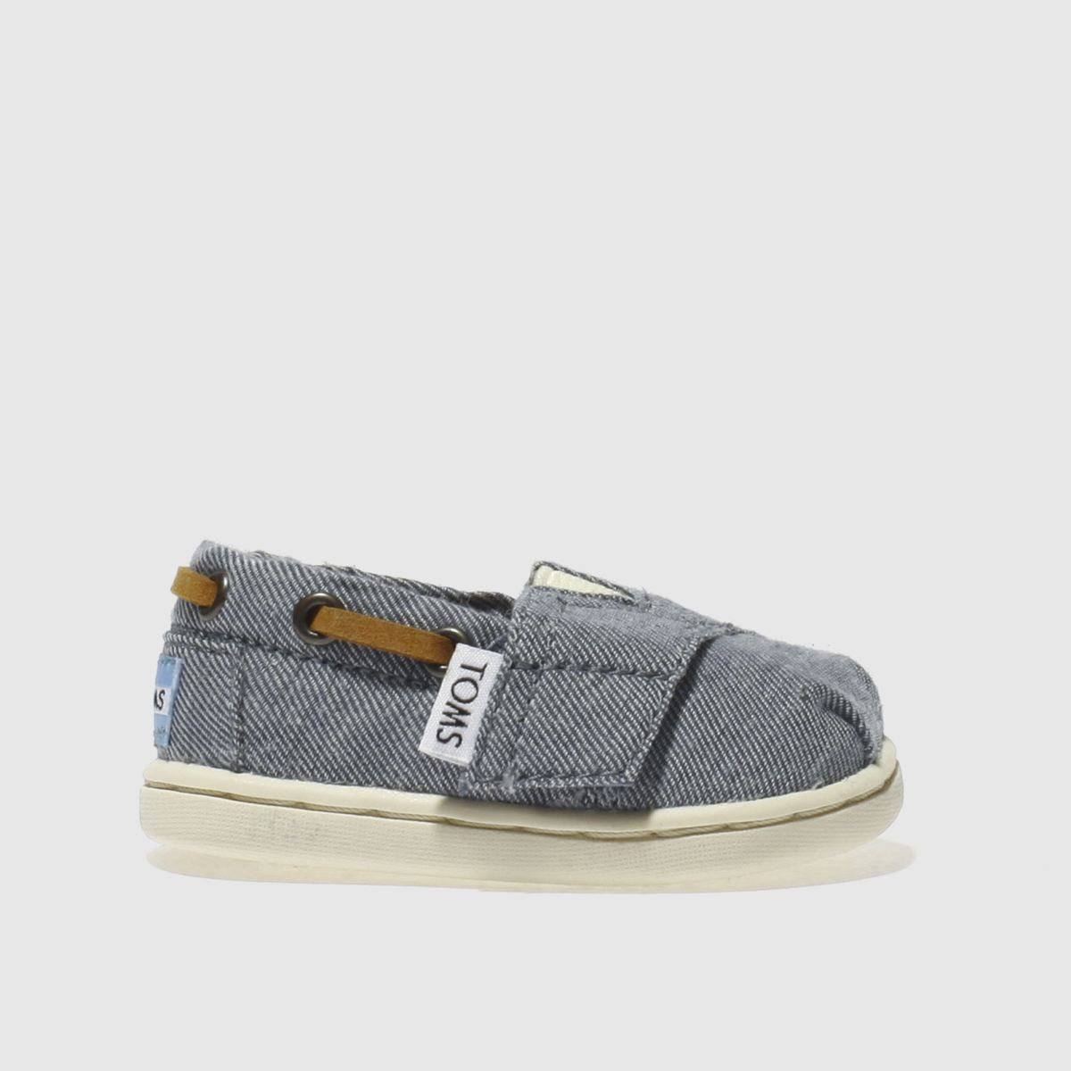 toms navy bimini Girls Baby Shoes