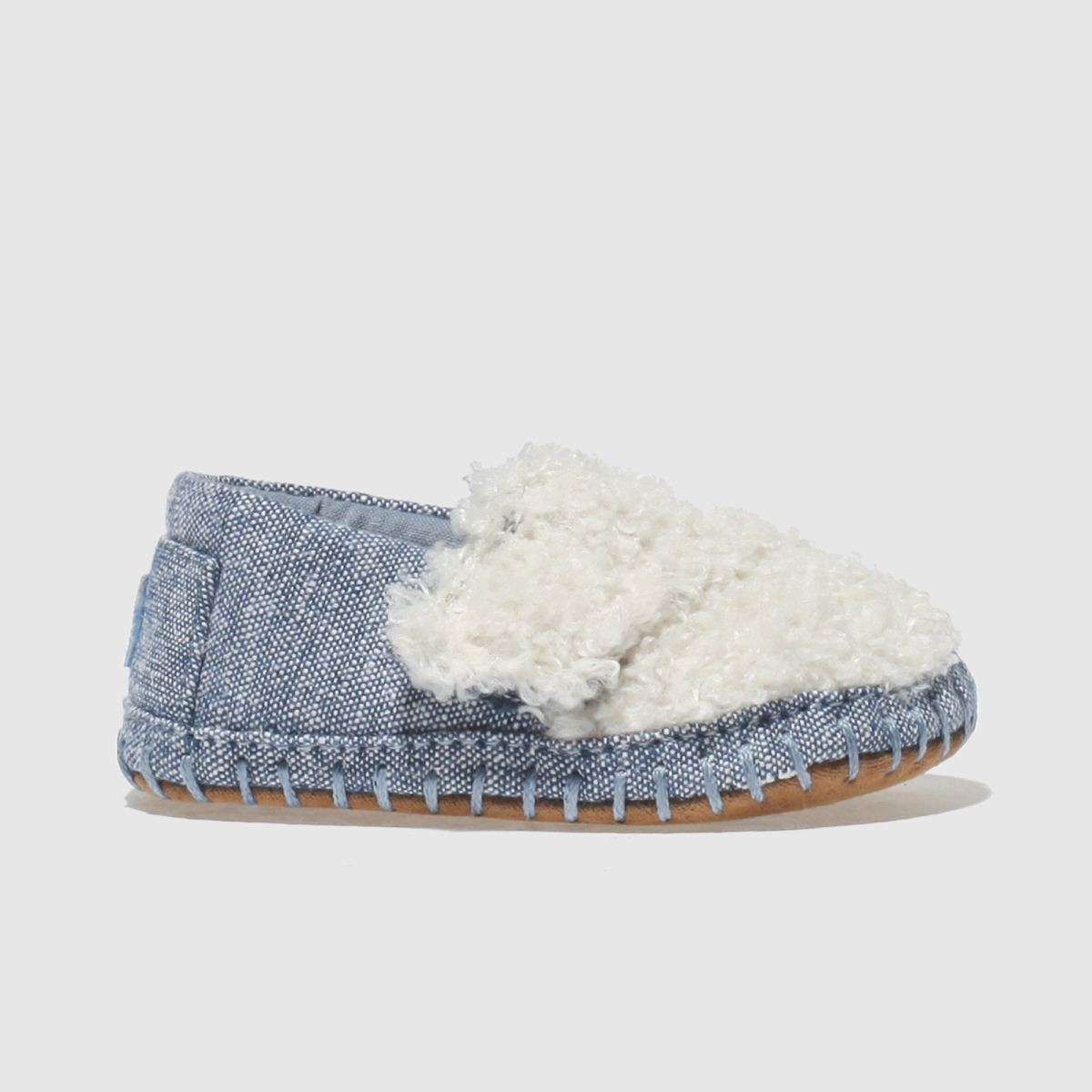 Toms Blue Classic Crib Shoes Baby