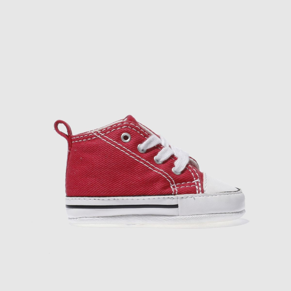 converse red 1st star crib Boys Baby Trainers