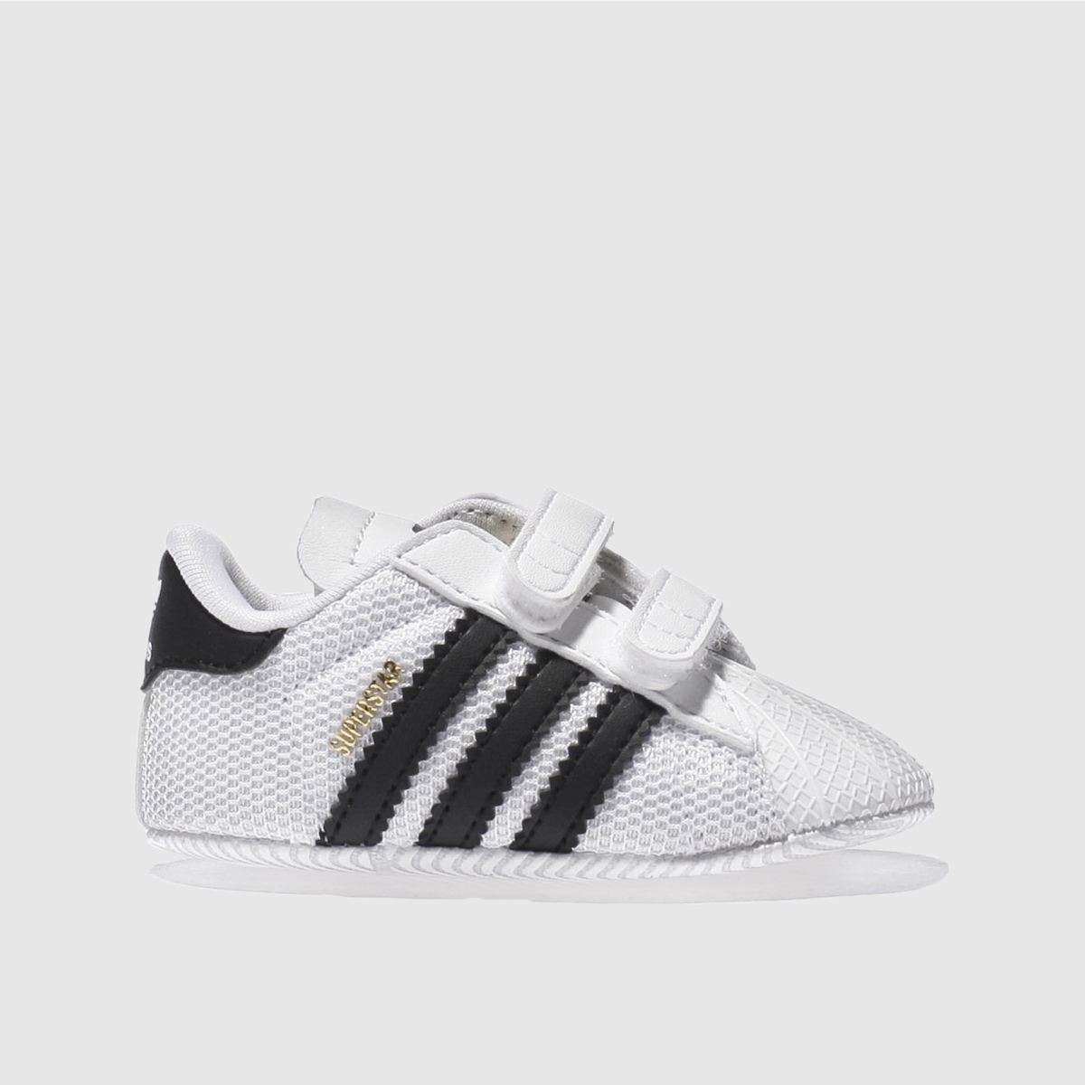 adidas white & black superstar mesh Baby Trainers