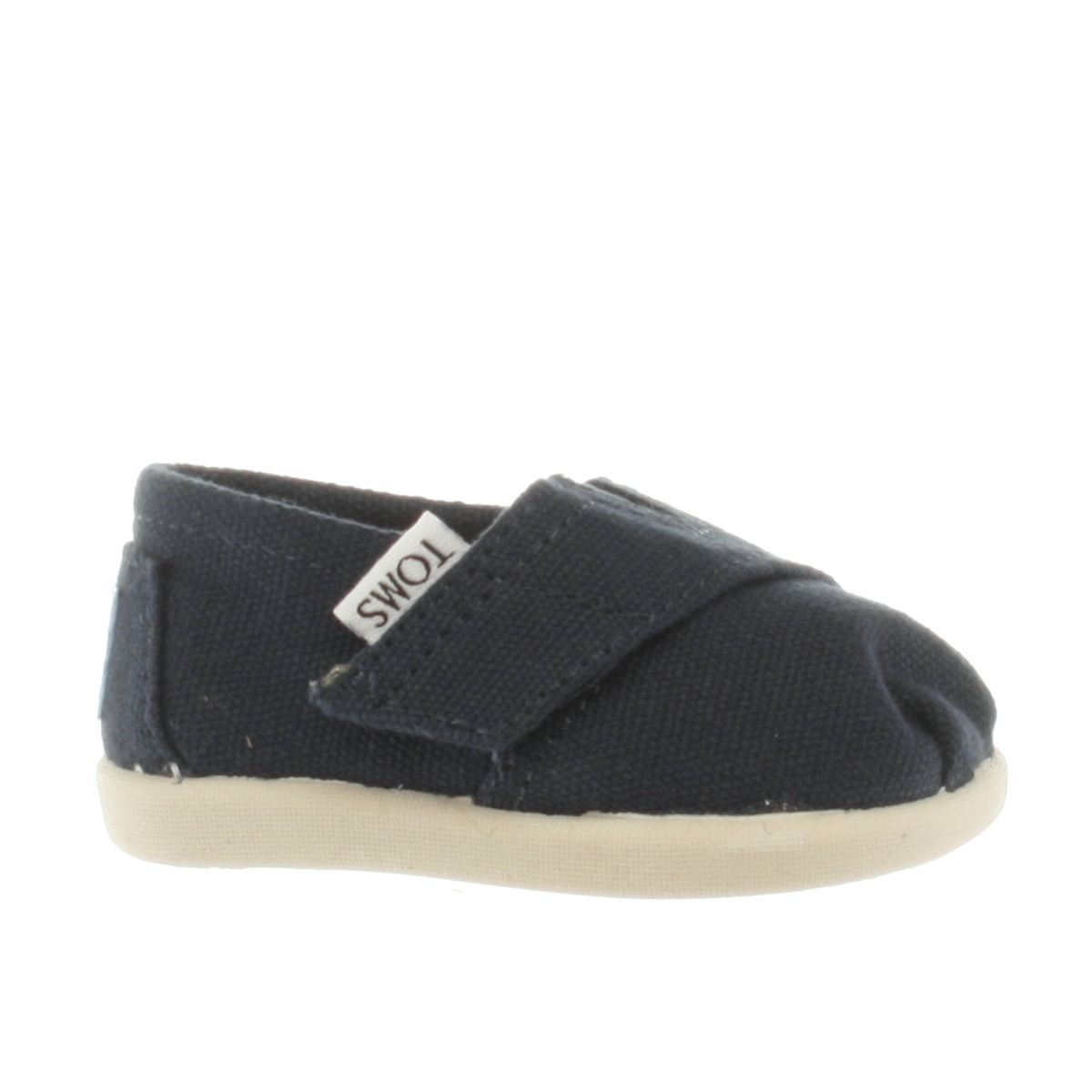 toms navy tiny classic Boys Baby Shoes