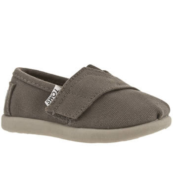 kids toms grey tiny classic shoes