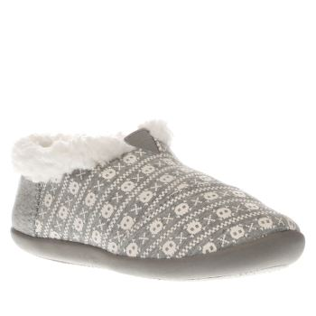 Toms White & grey House Slipper Unisex Toddler