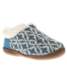 Toms White & Blue House Slipper Unisex Toddler