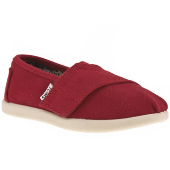 Unisex Toms Red Classic Unisex Toddler