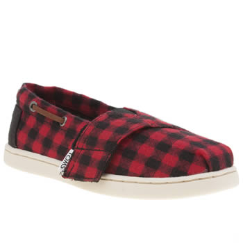 Toms Black & Red Biminis Unisex Toddler