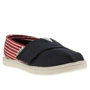Toms Navy & Red Seasonal Classic Unisex Toddler