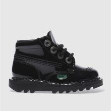 Toddler Black Kickers Kick Hi Patent