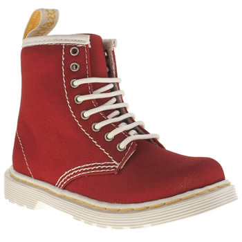 Dr Martens Red Brooklee B Unisex Toddler