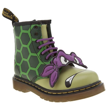 Dr Martens Green Ninja Turtles Donatello Unisex Toddler