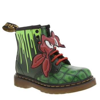 Dr Martens Green Ninja Turtles Raphael Unisex Toddler