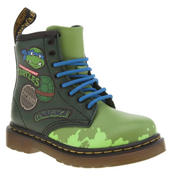 Dr Martens Green Ninja Turtles Leonardo Unisex Toddler