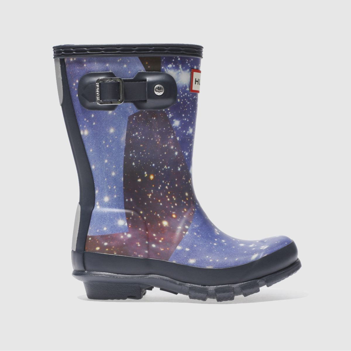 hunter navy & white original space camo Toddler Boots