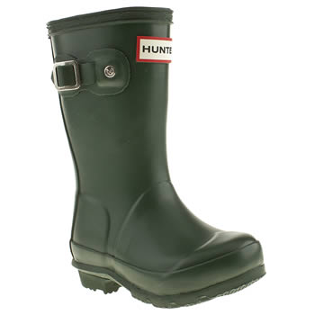 kids hunter green original boots