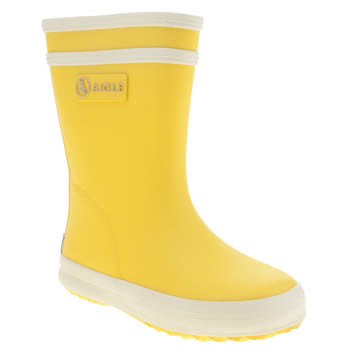 Aigle Yellow Baby Flac Unisex Toddler