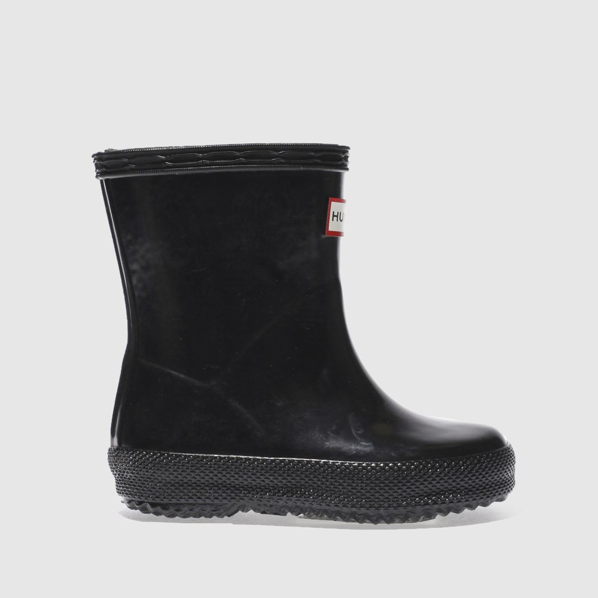 Hunter Black First Gloss Boots Toddler