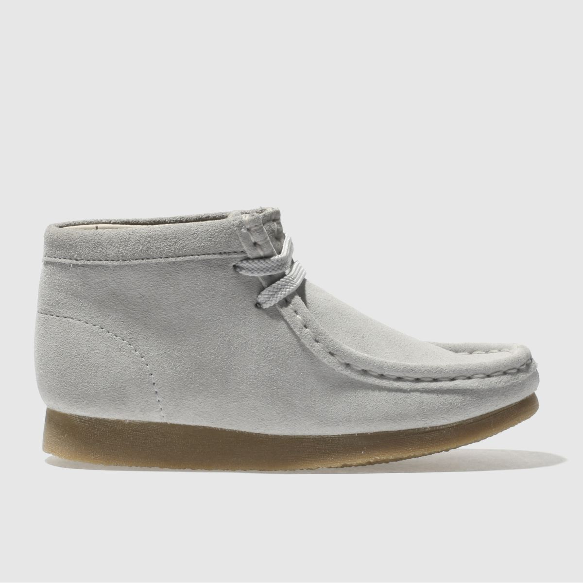 Clarks Originals Light Grey Wallabee Boot Unisex Junior Junior