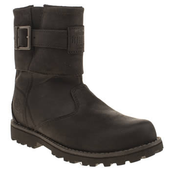 Timberland Black Bikerboot Unisex Junior