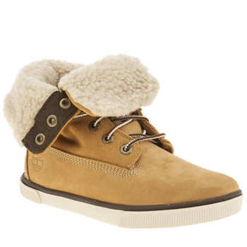 Timberland Tan Deering Fold Down Unisex Junior