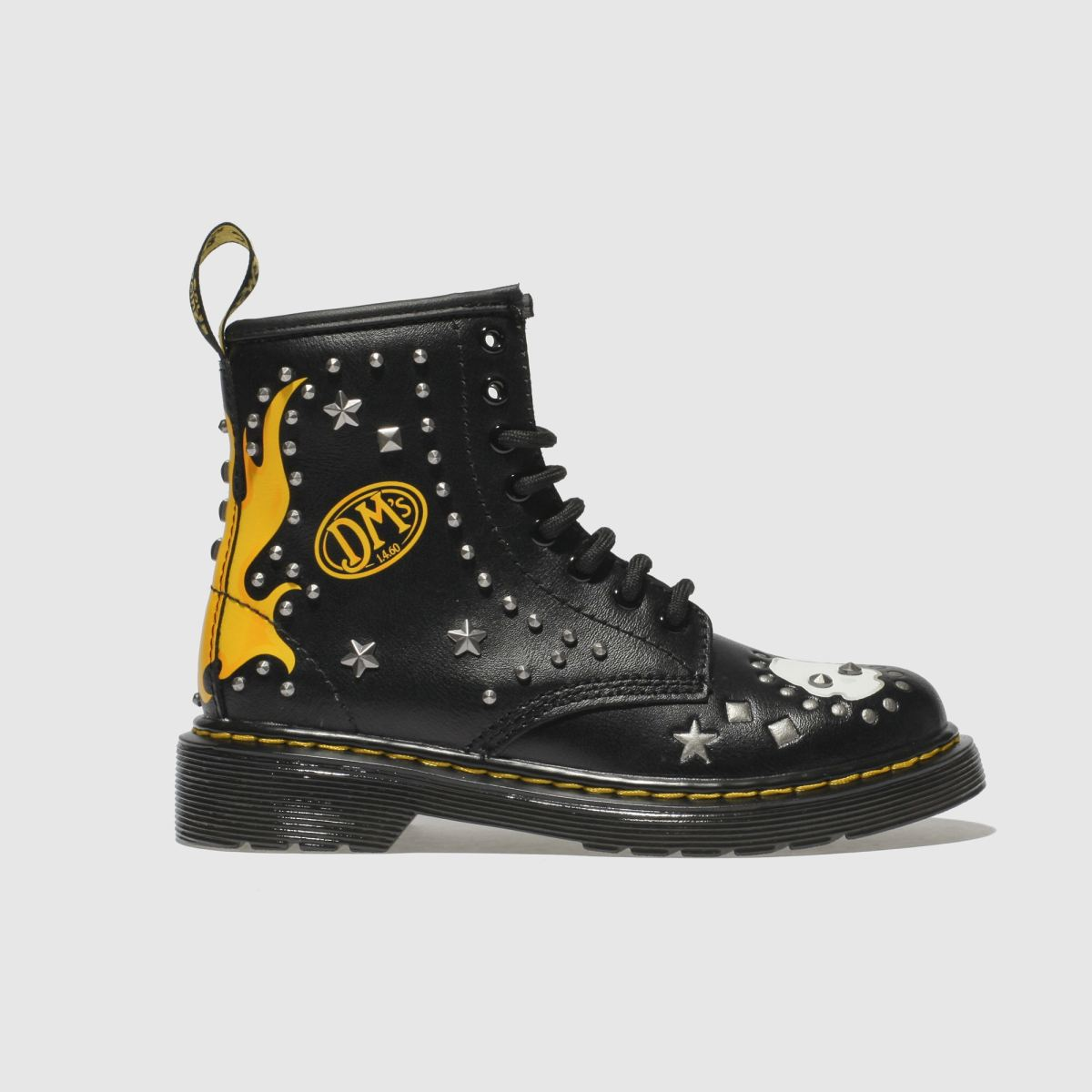 Dr Martens Black 1460 Patch+stud Unisex Junior Junior