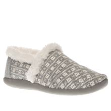 Toms White & grey House Slipper Unisex Junior