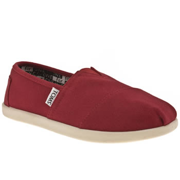 Toms Red Classic Unisex Junior