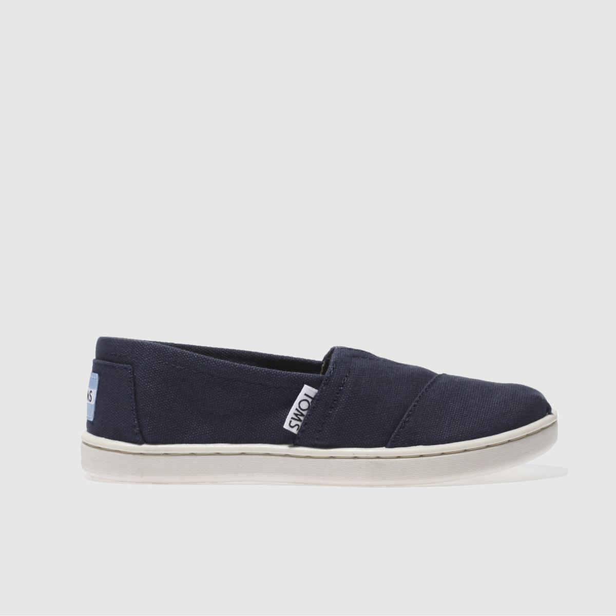 toms navy classic Boys Junior Shoes
