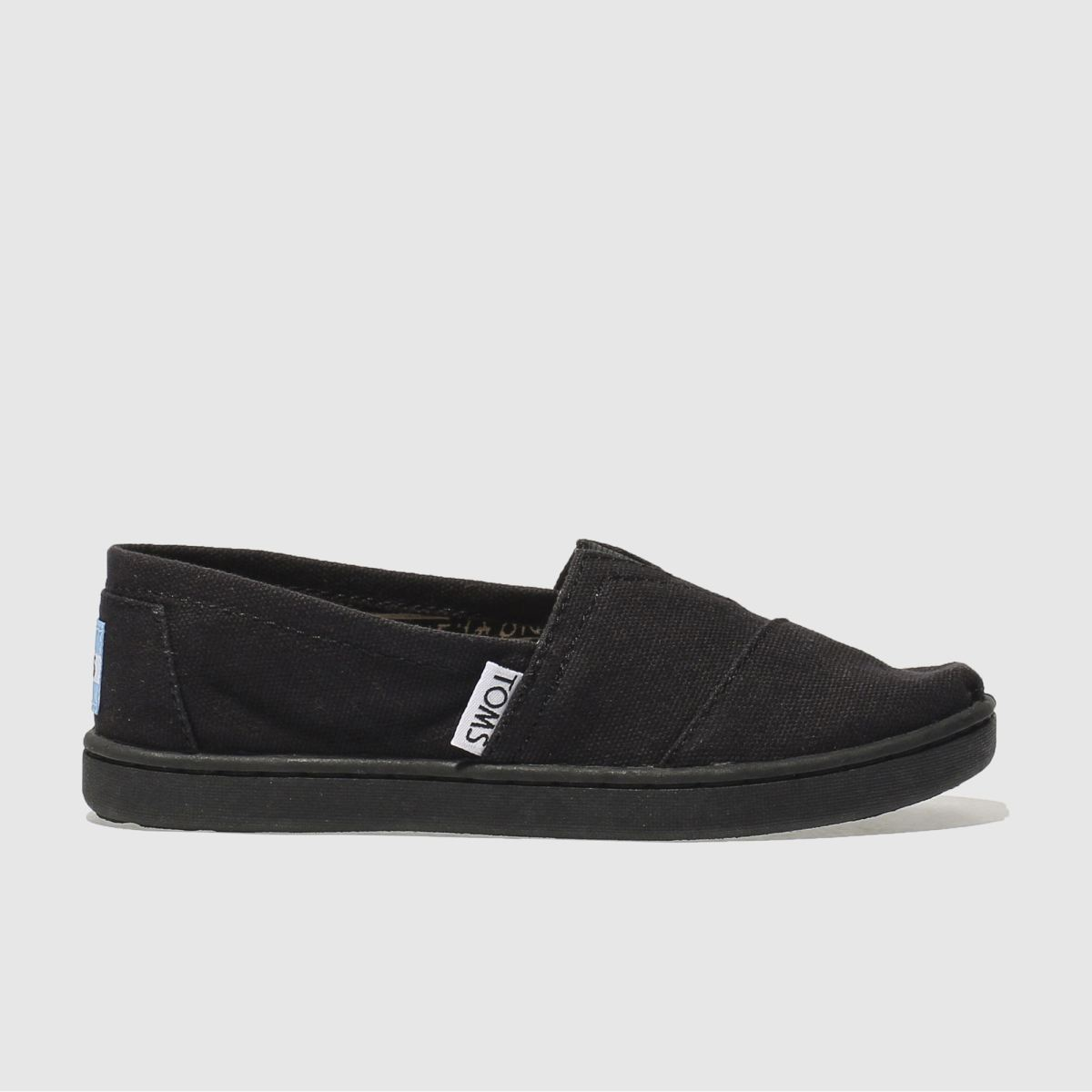 toms black classic Boys Junior Shoes