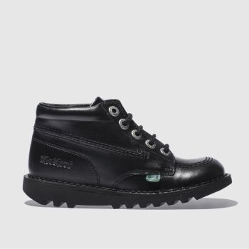Kickers Black Kick Hi Unisex Junior