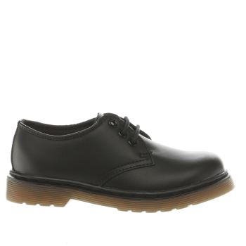 Dr Martens Black Everley Lace Shoe Unisex Junior