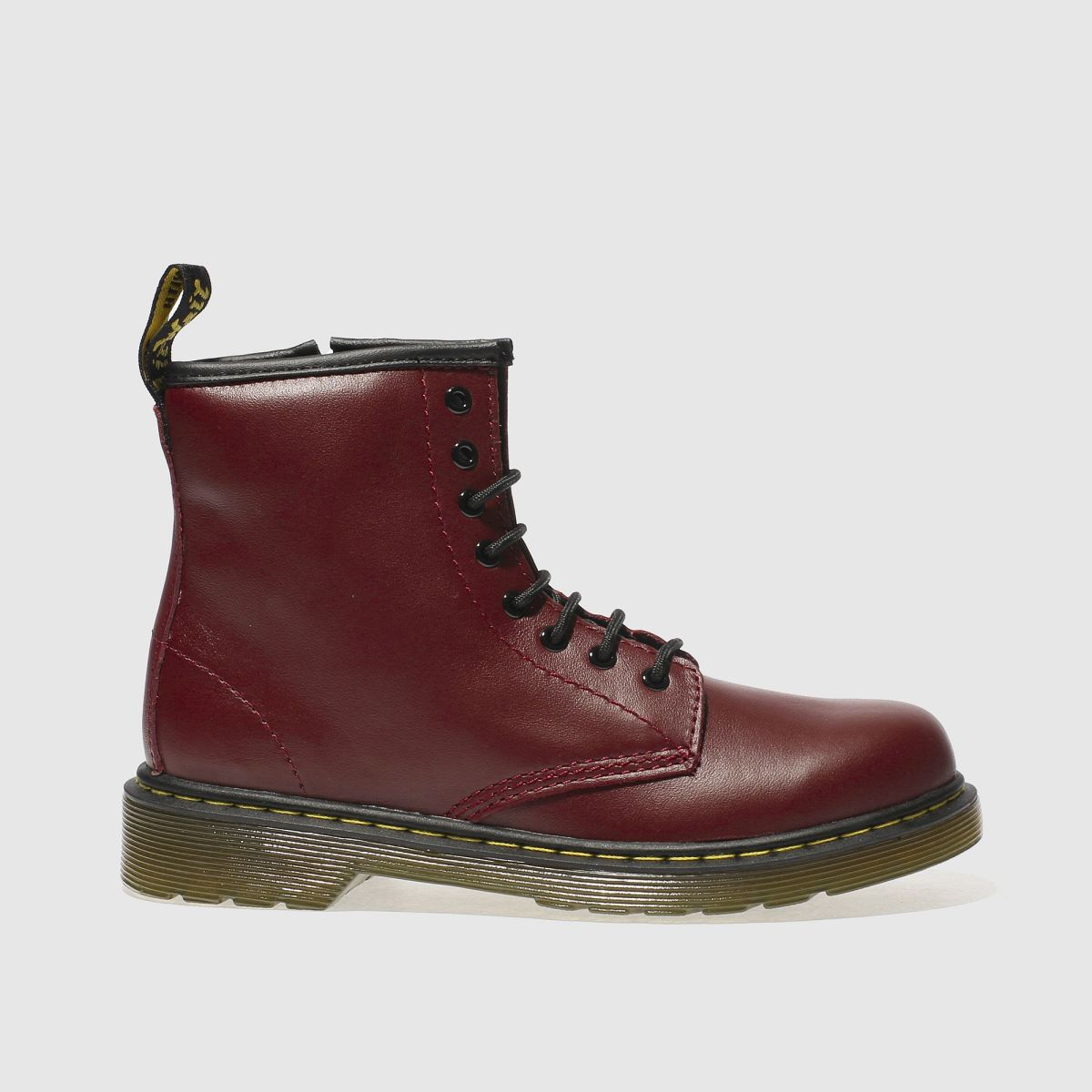 dr martens red delaney lace Boys Junior Boots