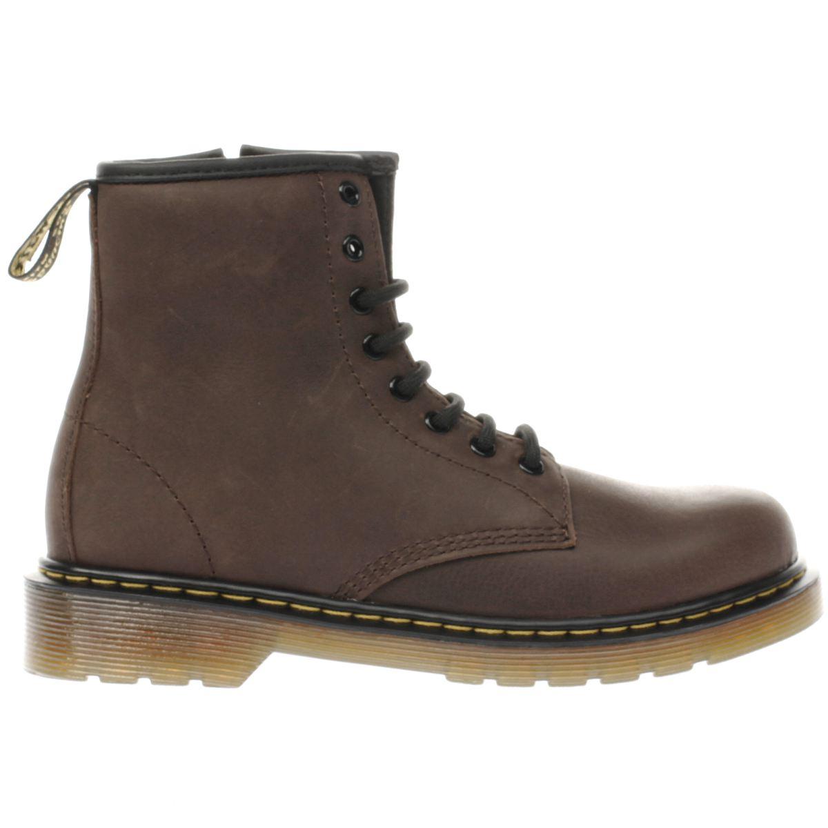 dr martens dark brown delaney Junior Boots