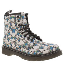 Dr Martens White & Pl Blue Adventure Time Finn Unisex Junior