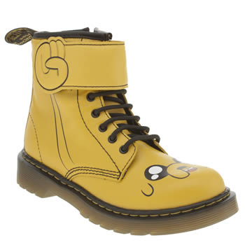Dr Martens Yellow Adventure Time Jake Unisex Junior