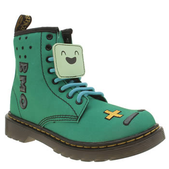 Dr Martens Green Castel Adventure Time Bmo Unisex Junior