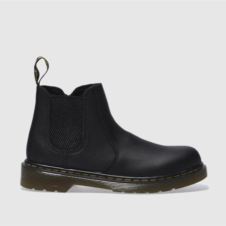 Kids Black Dr Martens Banzai Chelsea Boot Junior Boots