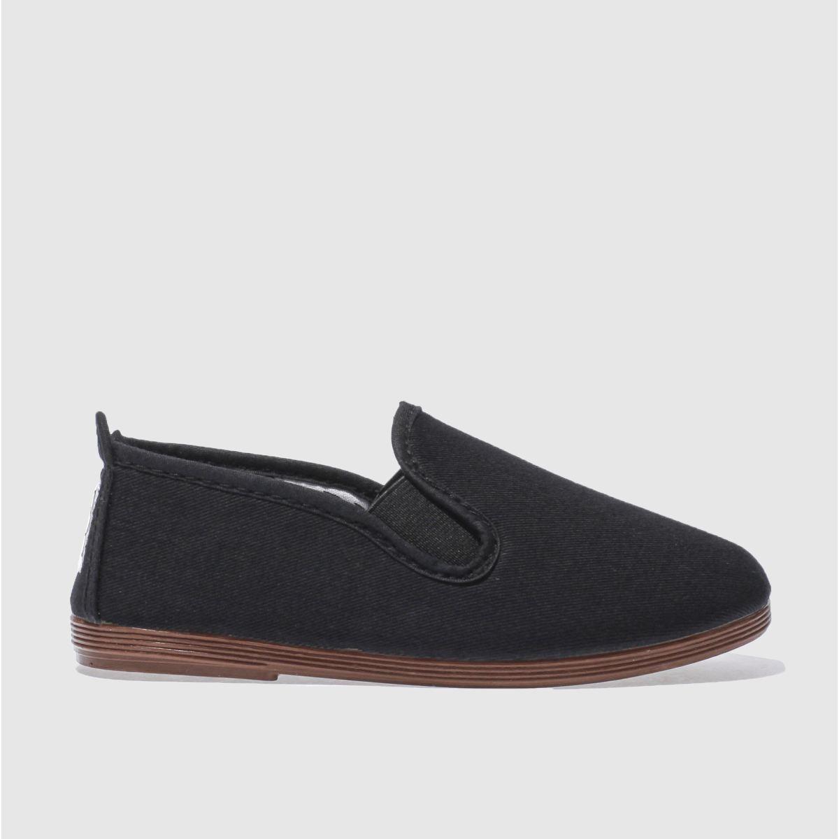 Flossy Flossy Black Pamplona Boys Junior Shoes