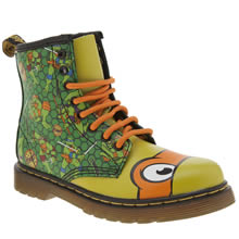 Dr Martens Green Ninja Turtles Michelangelo Unisex Junior