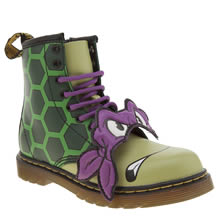 Dr Martens Green Ninja Turles Donatello Unisex Junior