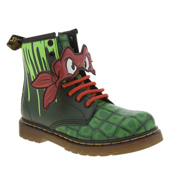 DR MARTENS GREEN NINJA TURTLES RAPHAEL JUNIOR BOOTS
