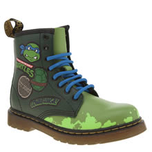 Dr Martens Green Ninja Turtles Leonardo Unisex Junior