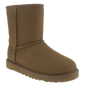 Ugg Australia Tan Classic Short Deco Unisex Junior