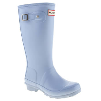 kids hunter pale blue original boots