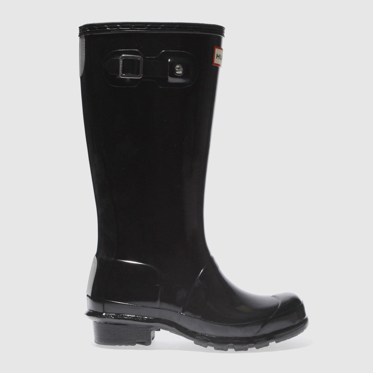 hunter black original gloss Boys Junior Boots