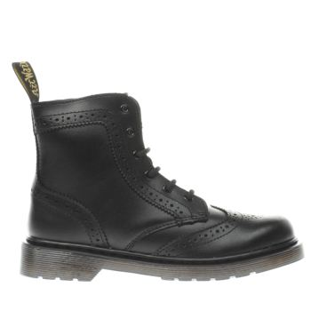 Dr Martens Black Delaney Brogue Unisex Junior