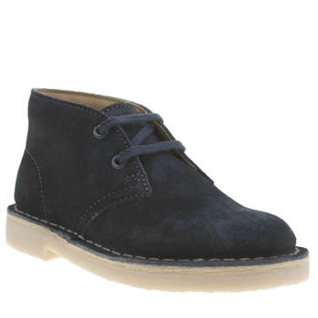 Clarks Originals Navy Desert Boot Unisex Junior