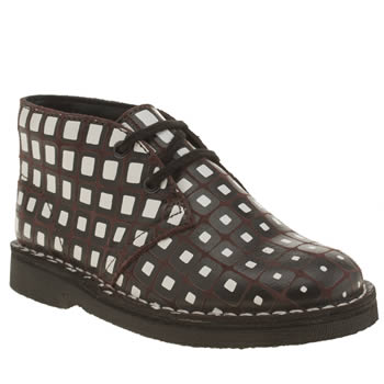 Clarks Originals Brown & Black Desert Boot V&a Unisex Junior