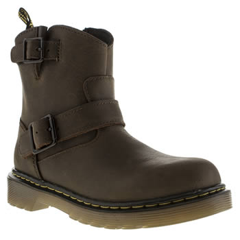 Dr Martens Dark Brown Lydia Engineer Unisex Junior